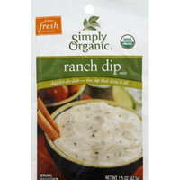 Simply Organic Dips Ranch At Least 95% Organic 1.5 Oz (Pack of 12)