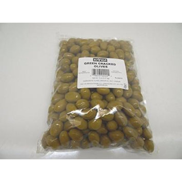 Krinos Green Cracked Olives, 5 lb, Product of Greece