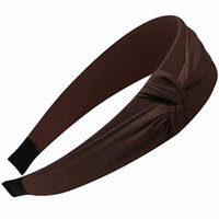 Romantic Side Knot Wide Headband - Brown