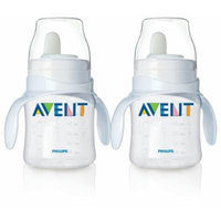 Philips Avent Bottle to First Cup Trainer 4 Months and Up - Clear/Clear (2 Pack)
