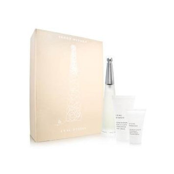 L'eau d'Issey by Issey Miyake for Women 3 Piece Set Includes: 3.4 oz Eau de Toilette Spray + Moisturising 2.6 oz Body Cream + 1.0 oz Moisturising Shower Cream