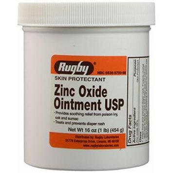 Zinc Oxide 20 % Skin Protectant Ointment for Diaper Rash, Chaffed Skin 1 Lb. Jar Pack of 2 Jars Total 2 Lb's (2)