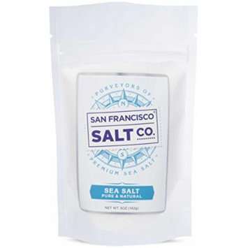Pacific Ocean Gourmet Sea Salt, pure and natural sea salt Kosher Certified (Fine Grain (5oz sample pouch))