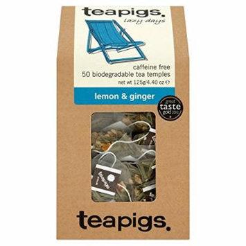teapigs Lemon and Ginger Tea, 50 Count
