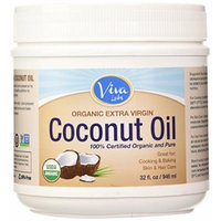 Viva Labs Organic Extra Virgin Coconut Oil, 32 Ounce (Pack of 2)