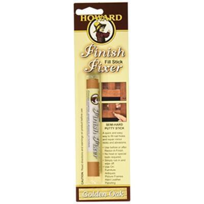 Howard Products FS3001 Finish Fixer Semi-Hard Putty Stick, Golden Oak