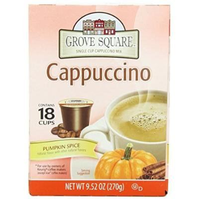 Grove Square Cappuccino, Pumpkin Spice, 18 Single Serve Cups