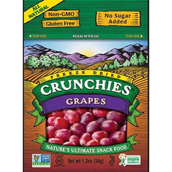 Crunchies Freeze-Dried Fruit Snack, Grapes, 1.2 Ounce (Pack of 6)