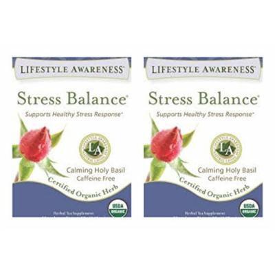 Lifestyle Awareness Stress Balance Calming Holy Basil Caffeine Free Tea 20 teabags PACK OF 2