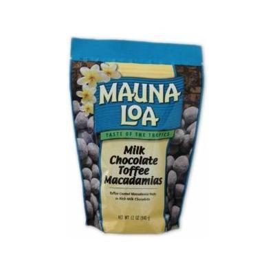 Hawaiian Mauna Loa Macadamia Nuts Milk Chocolate Toffee 11 Oz. Bag