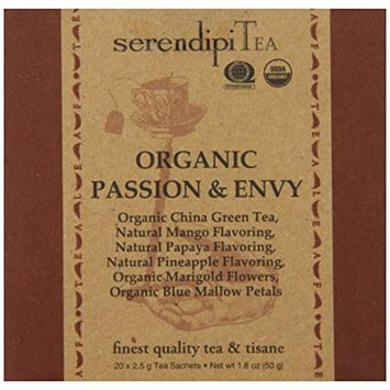 SerendipiTea Organic Tea Passion and Envy, 20 Count (Pack of 8)