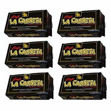 Cafe La Carreta Espresso Coffee 6 PACK 10 oz Miami Cuban-style Espresso