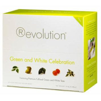 Revolution Green and White Celebration Tea, 30-Count Tea Bags