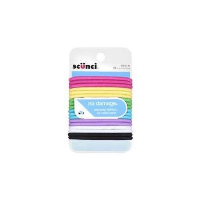 Scunci: Pink, Yellow, Green, Light Blue, Purple, White & Black Hair Bands, 18 Ct