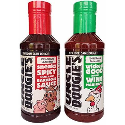 Uncle Dougies BBQ Sauce and Wing Marinade Bundle (2 Items)