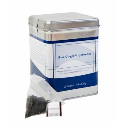 Harney & Sons BLUE GINGER Lychee Tea 20 ct Sachet Tin
