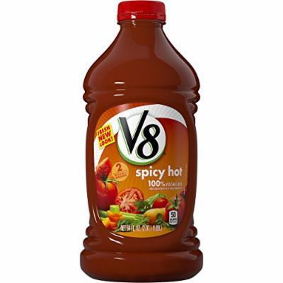 V8 100% Vegetable Juice, Spicy Hot, 64 Ounce (Pack of 8)