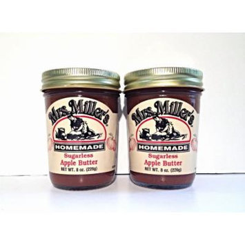 Mrs. Miller's Amish Homemade Sugarless Apple Butter 8 oz/226g - Pack of 2 (Boxed)