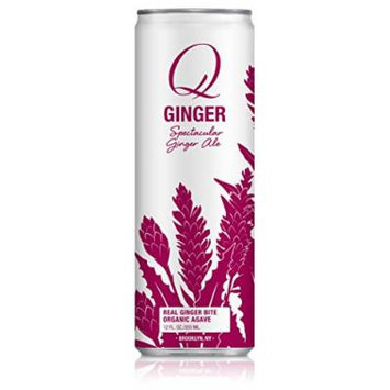 Q Drinks, Q Ginger Ale, Spectacular Ginger Ale, 12 Ounce Slim Can (Pack of 12)