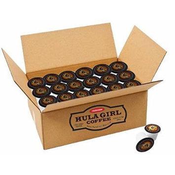 Hula Girl K2 Compatible 100% Kona Coffee Single Servings - K-Cup Box of 25