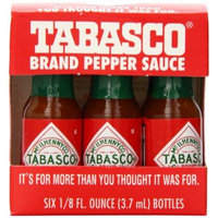 Tabasco Pepper Sauce Miniature Travel Pack, 6 Count (Pack of 24)