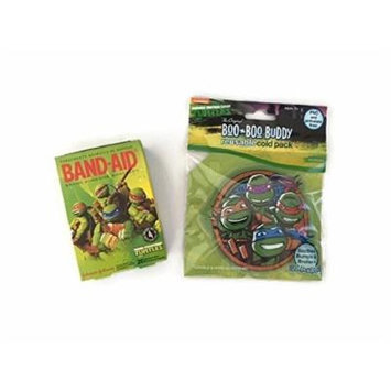 Turtles Cold Pack Bandage Bundle Children's Boo Boo Buddy First Aid Cool Pain Relief