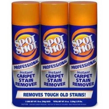 Spot Shot Professional Instant Carpet Stain Remover 3pk 18oz Cans