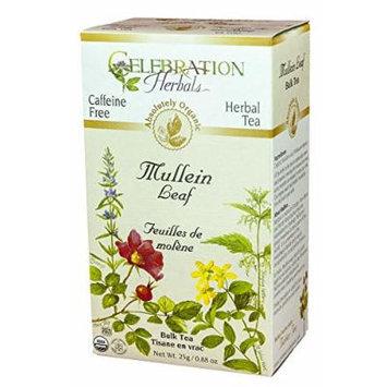 Celebration Herbals Organic Herbal Mullein Leaf Bulk Tea -- 0.88 oz
