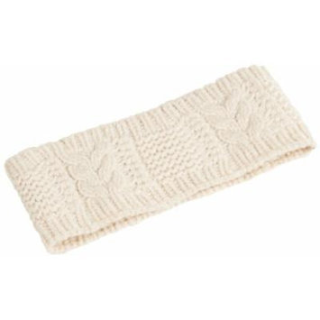 Nirvanna Designs HB09 Merino Cable Headband, White