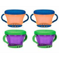 Nuby Snack Keeper - 4 Pack (Orange/Purple)