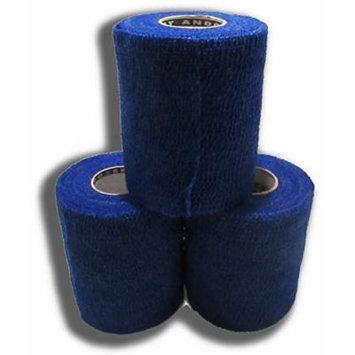 Powerflex 3 Cohesive Flexible Bandage/tape 3-pack (Blue)