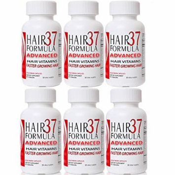 Hair Formula 37 Advanced 6 Pack Bundle Hair Vitamins for Fast Hair Growth Best Value on Vitamins for Hair Skin Nails