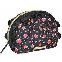 Betsey Johnson Mini Ruffle Cosmetic Make Up Bag Purse Pouch