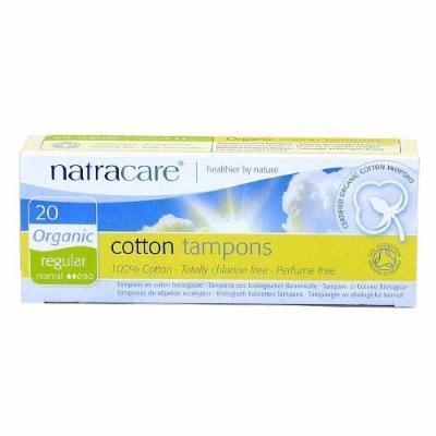 Natracare Organic All-Cotton Tampons, Regular, 20 ea 1 ea
