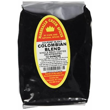 Marshalls Creek Spices Gourmet Whole Bean Coffee, Decaffeinated Colombian Blend, 12 Ounce