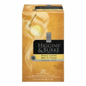 Higgins and Burke Herbal Tea, Honey Lemon, 20 Count