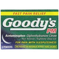 Goody's PM Pain Relief Powder, 6 Count Pack of 6