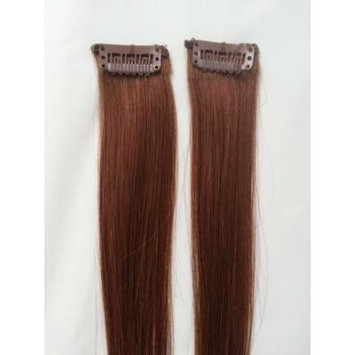 18inches 2pcs Clip In Human Hair Extensions #6 Medium Chestnut Brown