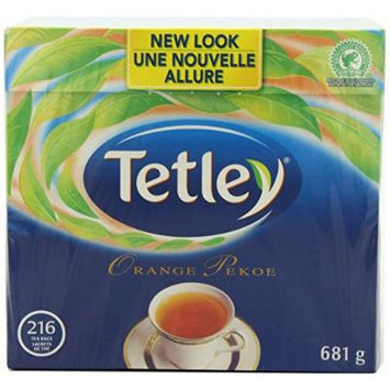 Tetley Tea, Orange Pekoe, 216 Count - 2 Pack