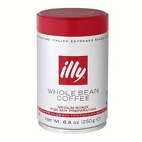 Illy roasted espresso coffee beans. 8.8oz coffee can