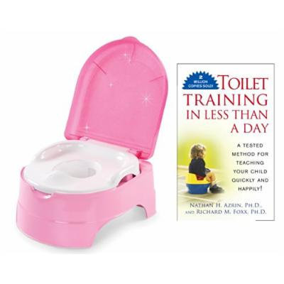 Summer Infant My Fun Potty with Toilet Training in Less Than a Day Guide Book, Pink