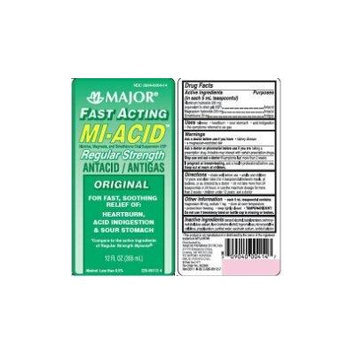 [2 PACK] MIACID® FAST ACTING MAXIMUM STRENGTH ANTACID/ANTIGAS ORIGINAL 12 OZ.