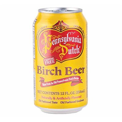 PA Dutch Birch Beer, Popular Amish Beverage, 12 Oz. Cans (Case of 24 Cans)