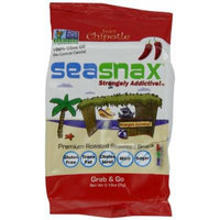 SeaSnax Grab and Go Roasted Seaweed Snack, Spicy Chipotle, 0.18-Ounce (Pack of 6)