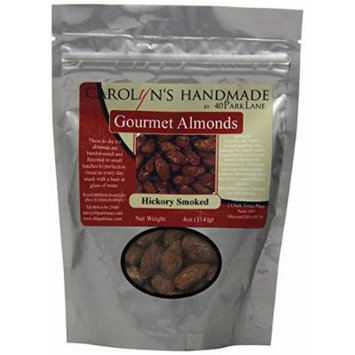 Carolyn's Handmade Gourmet Platinum Snack Bag, Hickory Smoked Almonds, 4 Ounce
