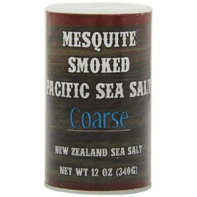 Pacific Salt Coarse Mesquite Smoked New Zealand Sea Salt, 12 Ounce (Pack of 6)