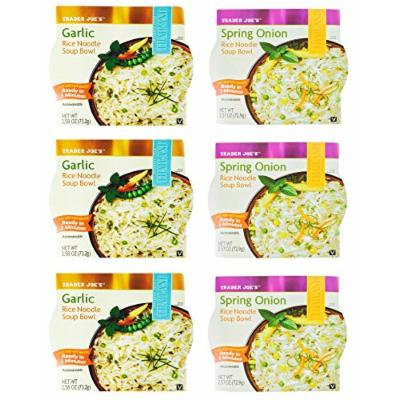 Trader Joe's Rice Noodle Soup Bowl Spring Onion & Garlic 6 Pack
