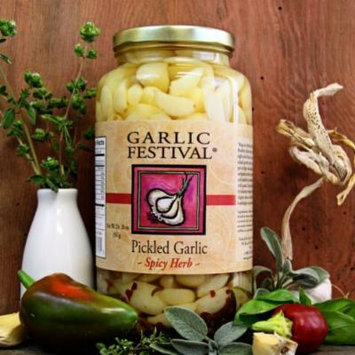Spicy Herb Pickled Garlic (Quart)