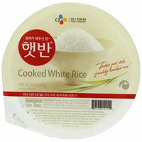 CJ Cooked White Rice, 7.4-Ounce Containers (Pack of 6)