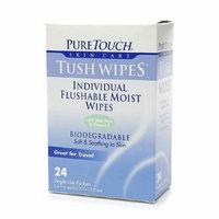 PureTouch Tush Wipes, Flushable Moist Wipes 24 ea